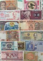 16 Pcs Different World Paper Money Set//Lot UNC From Bundle