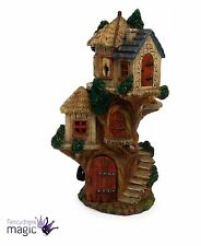 Large Spiral Tree House Fairy Pixie Garden Miniature Home House Door Accessory