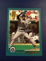 2001 Topps # 627 BOBBY JONES New York Mets Baseball Card Sharp !