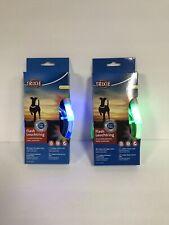 2 Trixie Flashing LED Dog Collar Splash Proof  Med-Large Blue Red Green NIB