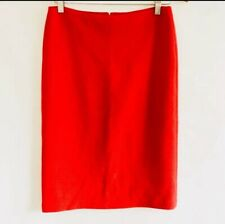 ARMANI COLLEZIONI Pencil Skirt Size US 4 UK 8 (Stretch. In Red Made In Italy
