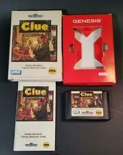Clue (Sega Genesis, 1992) Complete Cardboard case version