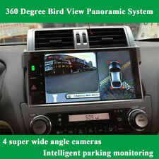 360° HD Bird View 4 Camera Car Parking Helper Shock Alarm Real Time Monitored