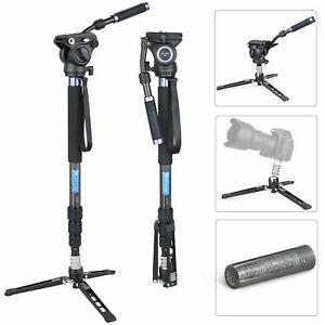 ARTCISE 72 in/183cm Video monopod kit, Fluid Head Tripod Base for Video Shooting