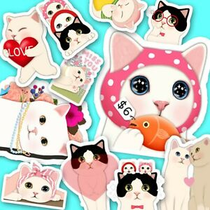 48 Cute Choo Choo Cat Stickers, Journal, Diary Stickers, Jetoy Stickers [USA]