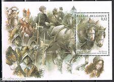 België 2002 blok 83 Paarden - horses