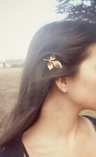 Art Deco retro style gold coloured leaf hair clip hairclip