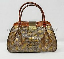 NWT Brahmin Laura Satchel/Shoulder Bag in Fall Tortoise Durham. Embossed Leather