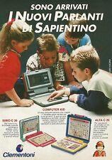 X7246 Clementoni - I nuovi parlanti di Sapientino - Pubblicità 1991 - Advertis.