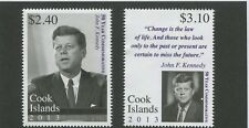 2013 Cook Islands Stamps #1476-1477 President John F. Kennedy Commemorative Set