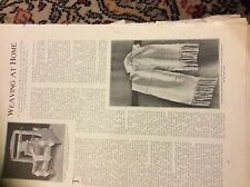 m12g ephemera 1907 article weaving at home