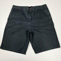 Hurley Grey Soft Denim Short Mens Casual Summer Beach Everyday Size 34
