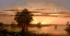 Florida Sunrise Martin Johnson Heade USA Amerika Sonnenaufgang Boot B A3 02859