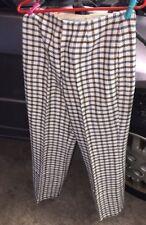 Vintage 1960 / 1970 Womens Plaid Pants