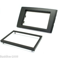CT24VL09 VOLVO XC90 2006 to 2014 BLACK DOUBLE DIN FASCIA ADAPTER PANEL
