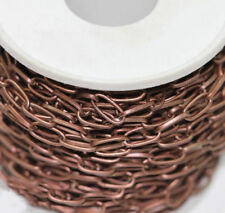 1/10M Silver/Gold Plated Metal Cross Open Link Chain Jewelry Findings DIY 10x5MM