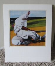 RARE NEGRO LEAGUE NUMBERED PRINT OF BUCK LEONARD SIGNED BY ARTIST MATTED