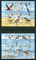 Kiribati 2008 MNH Bird Definitives Terns Gulls Ducks 12v on 2 M/S Birds Stamps