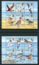 Kiribati 2008 MNH Bird Definitives Terns Gulls Ducks 12v on 2 M/S Birds Stamps