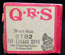 QRS Word Player Piano Roll 9782, The Exodus Song / Main Theme from Exodus, 1960