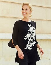 BNWT JOANNA HOPE  LONGLINE BLACK / WHITE  PLUS  SIZE 26 TUNIC  TOP RRP £ 49.99