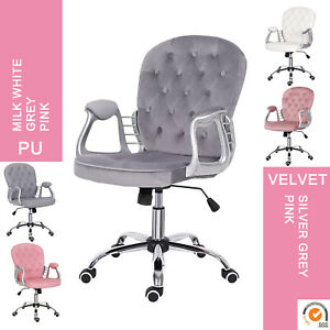 Executive Office Desk Chair Adjustable Comfy Padded Seat Swivel Chair High Back