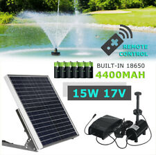Solar Power Fountain Submersible Water Pump With Filter Remote Pond Pool