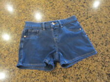 Justice Girls youth 12R Shorts blue denim jeans shorts