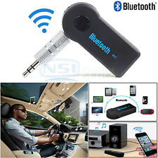 Wireless Bluetooth 3.5mm AUX MP3 Player Home Car Kit Receiver Audio Adapter Mic