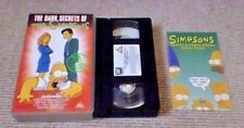The Simpsons The Dark Secrets Of UK PAL VHS VIDEO 1997 Animated The X-Files Cult