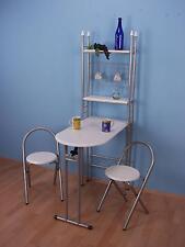 Küchentheke 3-tlg. Wandtisch Stühle Tisch Regal Klapptisch Klappstuhl Spar-Set