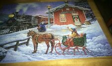 HOME FOR CHRISTMAS ~ 1000 PC. PUZZLE FROM BITS AND PIECES, GLOW IN THE DARK