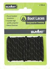 Heavy Duty Black Boot Laces Summit Walking Hiking 120cm Long Strong
