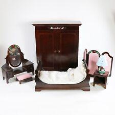 Muffy Vanderbear Bedroom Furniture Set - Vanity, Armoire, Bed, Nightstand, Lamp