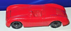 """Vintage Tootsie Toy Chicago 24 5"""" Red Porsche Spyder Speedster USA"""