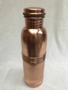 Copper water bottle with leak proof cap 1lit. yoga bottle for gift