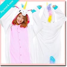 NEW WHITE UNICORN SAZAC KIGURUMI Cosplay Adult Halloween Animal Fleece Costume