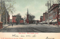 Main Street, New Britain, Connecticut, Early Postcard, Used in 1906