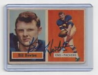 1957 PACKERS Billy Howton signed card Topps #33 AUTO Autographed Green Bay Bill