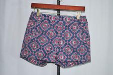 J.Crew Blue Paisley Print Stretch Shorts Woman's Sz 00