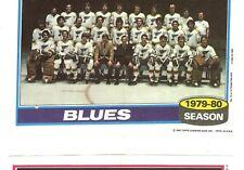 1980-81 Topps Hockey Team Photo Mini Poster Pinup St. Louis Blues Mint