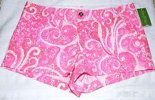 "LILLY PULITZER Ladies  Walsh Shorts   ""PINK POUT PBJ""    Sz 14   NWT"
