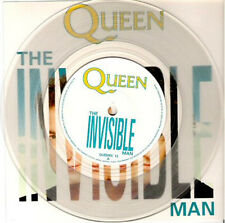 "QUEEN - Invisible Man  ( clear vinyl, ps) 7""  45"