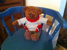 "Teddy Bear in sweatshirt & mittens ~12""h ~ Country Primitive Christmas Winter"