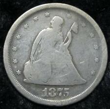 1875-S Seated Liberty Twenty Cents * Clear Date * Great for a Book * 90% Silver