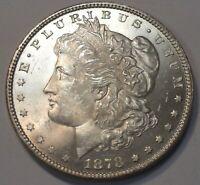 1878 P REVERSE OF 79 MORGAN SILVER DOLLAR BETTER DATE 1879 BACK CHOICE BU #1000