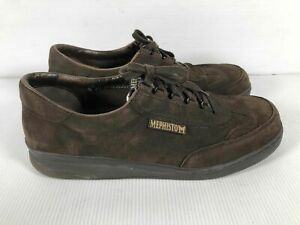 Mephisto Run Off Air Jet Brown Leather Men Lace Up Round Toe Casual Oxfords 11