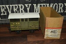 "Bassett Lowke""O"" LMS goods cattle wagon truck excellent 14548 c1935 1380/0 boxed"