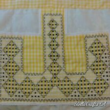 Unbranded Custom Beige color with Beautiful Hand Embroidery Cotton Half Apron