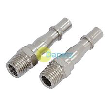 "1/4"" Bayonet Plug Coupler BSP Hose Male Airline Fitting Coupling  Fits PCL 2 Pk"